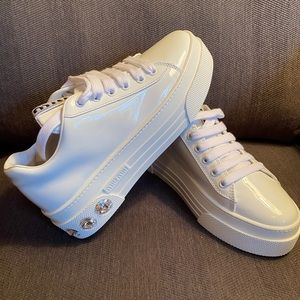 New Miu Miu Jeweled Sneakers
